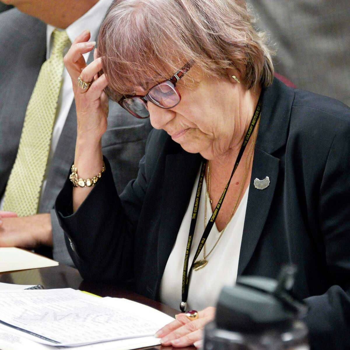 Enforcement counsel Risa Sugarman during a meeting of the State Board of Elections Wednesday August 8, 2018 in Albany, NY. (John Carl D'Annibale/Times Union)