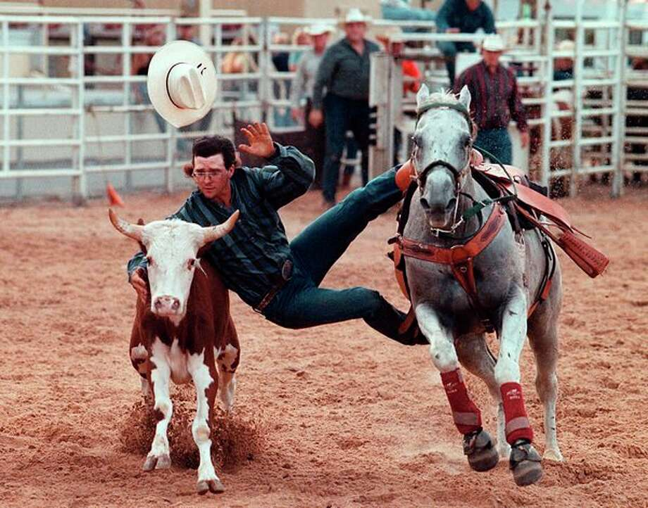 Super Kicker Rodeo has shows set for 7 p.m. Monday and Tuesday at the Midland County Fair grandstand. (Daily News file photo 1998)