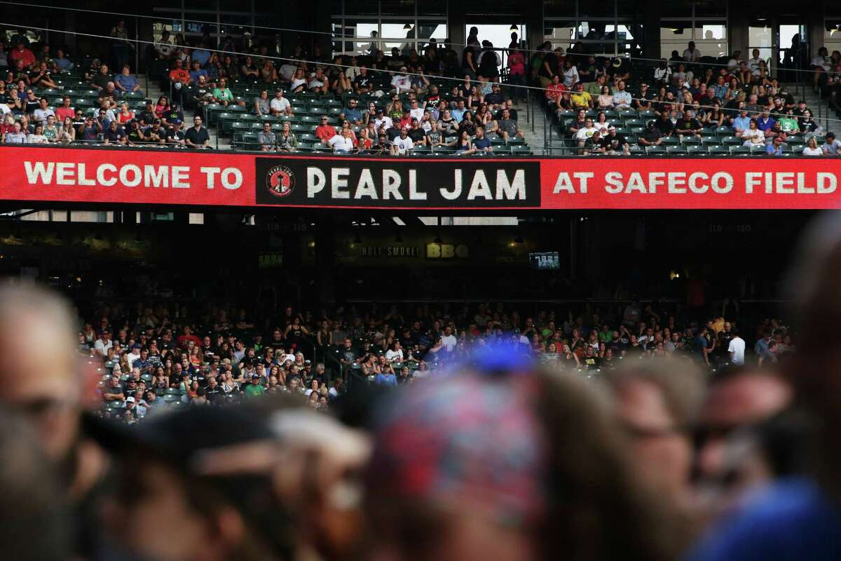Pearl Jam plays the first of two sold-out concerts titled The Home Shows at Safeco Field, Wednesday, Aug. 8, 2018. The shows, their first in the band's hometown in five years, are part of a massive fundraising campaign to fight homelessness in King County. The band has already raised over $10 million through community partners.