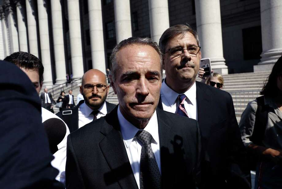 Rep. Christopher Collins, a Republican from New York, exits federal court in New York on Aug. 8, 2018. Photo: Bloomberg Photo By Peter Foley. / © 2018 Bloomberg Finance LP