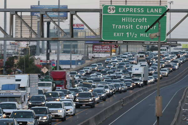 A multiple-vehicle incident at Interstate Highway 69 northbound and Chimney Rock Road blocked three lanes and caused heavy delay on Thursday, Aug. 9, 2018, in Houston.