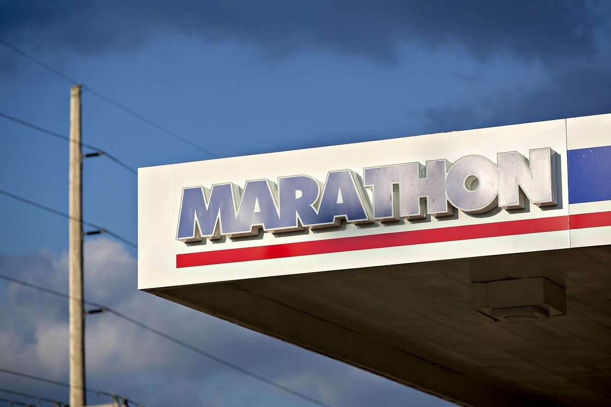 Marathon Petroleum was among oil stocks that were down by at least 15 percent early Thursday.