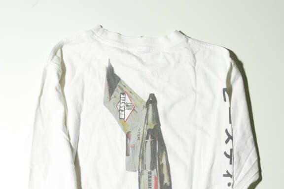 """A long-sleeved tour shirt from the Beastie Boys' tour behind """"License to Ill"""" likely from 1987."""