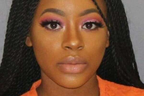 """The 19-year-old Dallas woman, Marshala Perkins, was arrested in February on a marijuana possession charge. Her mugshot, taken at the Hunt County Jail, was posted two months later on the Twitter account """"Mugshot Baes."""""""