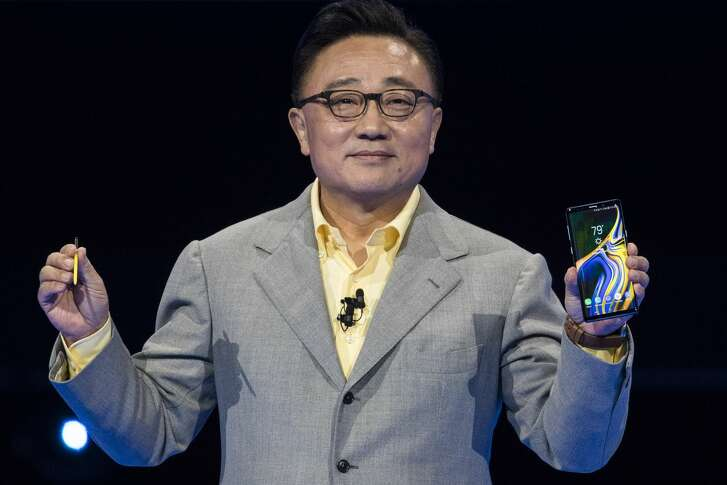 DJ Koh, president and CEO of Samsung Electronics, introduces the new Samsung Galaxy Note 9 smartphone at the Barclays Center on August 9, 2018 in the Brooklyn borough of New York City. The new smartphone will go on sale August 24.