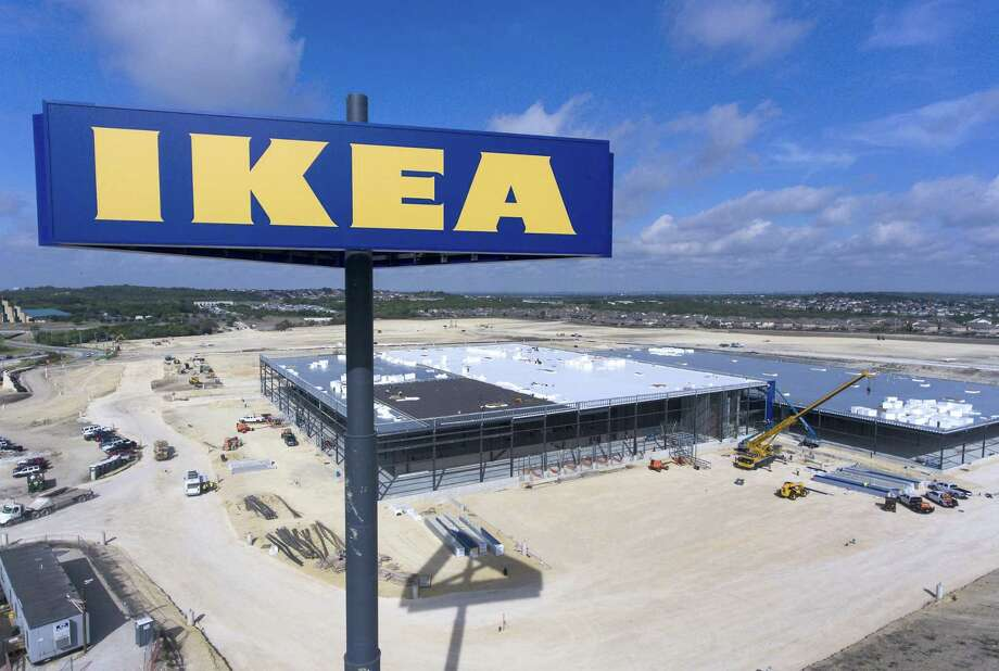 The still-under-construction Ikea store at the intersection of Loop 1604 and Interstate 35 on the Northeast Side is seen Thursday. , Photo: William Luther /Staff Photographer / © 2018 San Antonio Express-News