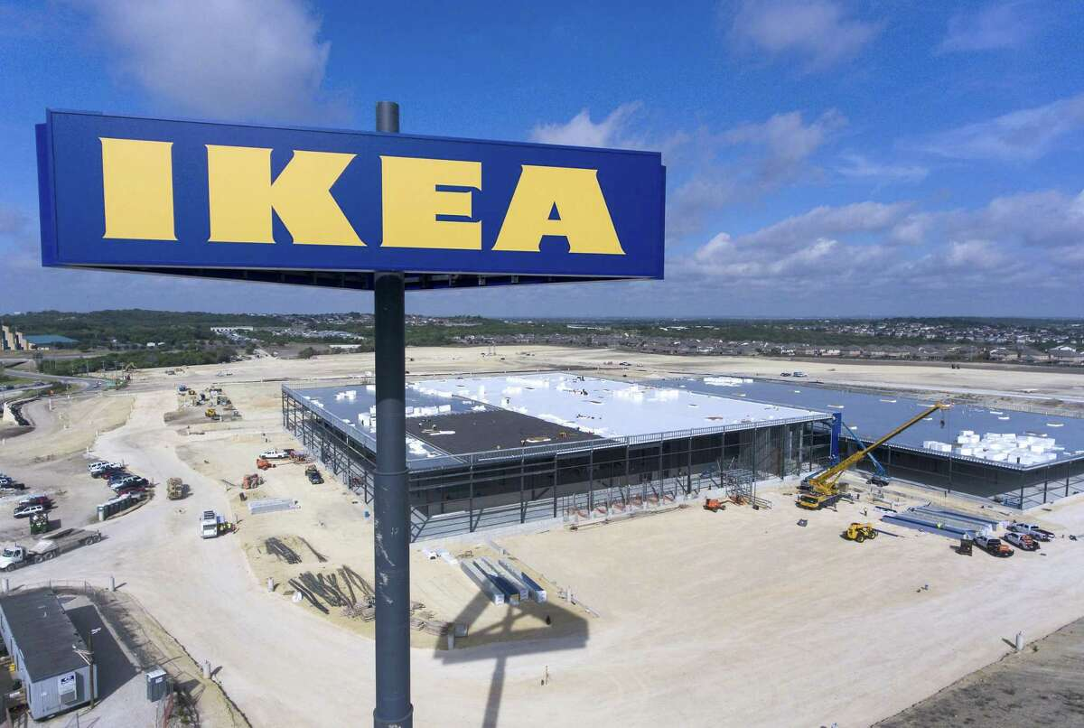 The still-under-construction Ikea store at the intersection of Loop 1604 and Interstate 35 on the Northeast Side is seen Thursday. ,