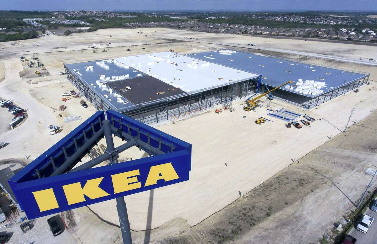 The still-under-construction Ikea store at the intersection of Loop 1604 and I-35 on the Northeast Side is seen Thursday.