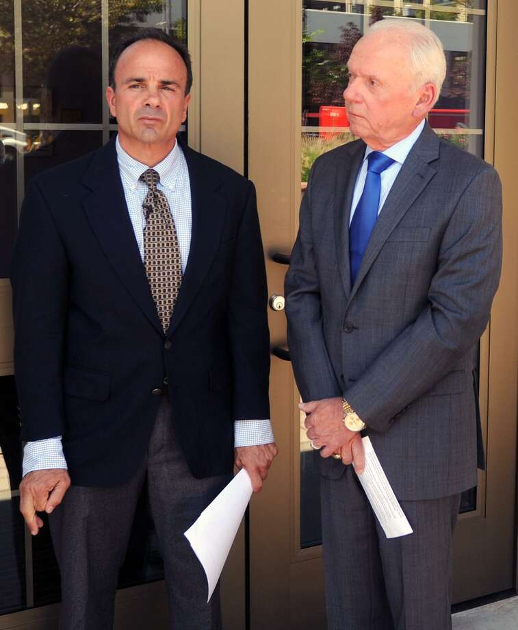 Joe Ganim with Edward Adams during Ganim's comeback mayoral campaign. For two-and-a-half years, retired FBI Agent Adams really has been working for returned Mayor Joe Ganim, the man Adams helped convict in 2003 of running a pay-to-play operation out of City Hall. Photo: Cathy Zuraw / Hearst Connecticut Media File Photo / Connecticut Post
