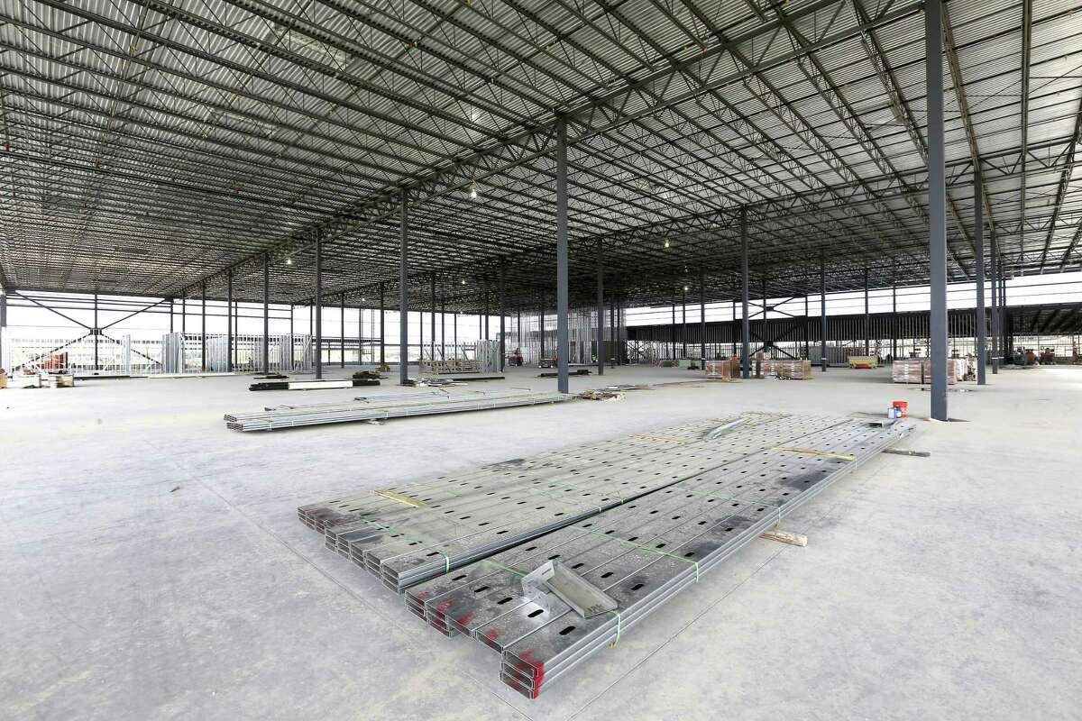 The inside of the still-under-construction, 289,000-square-foot IKEA store at the intersection of Loop 1604 and I-35 in Live Oak is seen Thursday, Aug. 9, 2018.