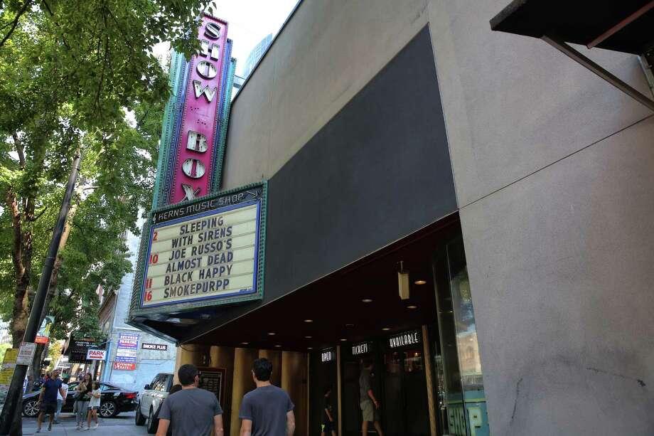 The Showbox Theater on 1st Avenue. Photographed on Aug. 9, 2018. Photo: GENNA MARTIN, SEATTLEPI.COM / SEATTLEPI.COM