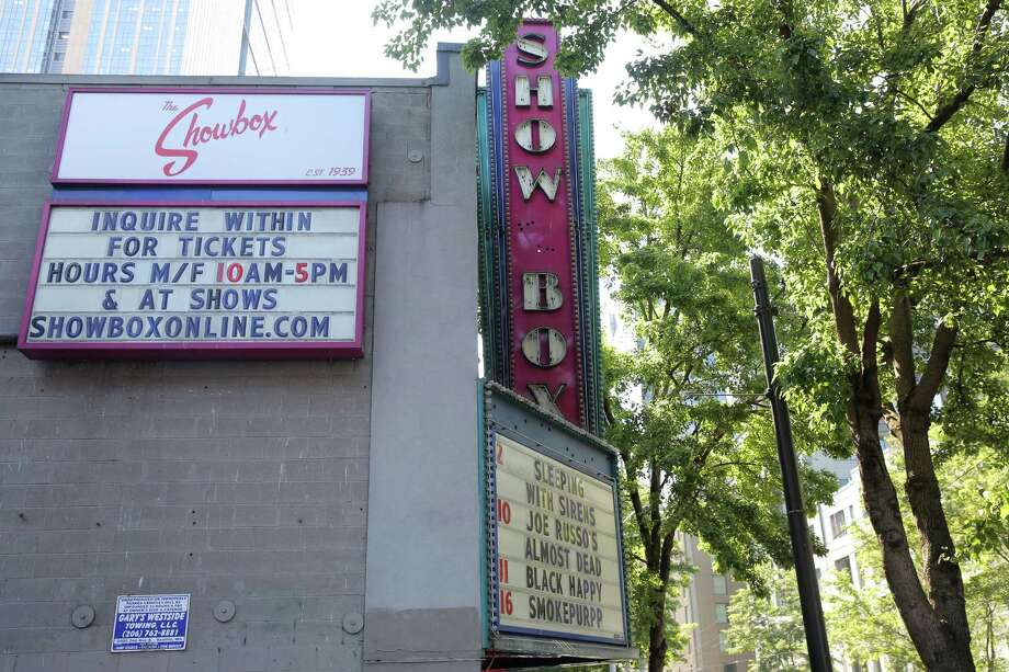 The Showbox Theater on 1st Avenue. Photographed on Aug. 9, 2018. Photo: GENNA MARTIN, SEATTLEPI.COM / SEATTLEPI.COM