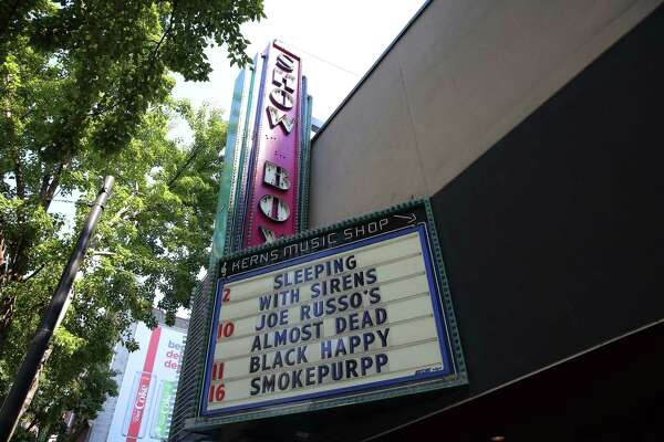 The Showbox Theater on 1st Avenue. Photographed on Aug. 9, 2018.