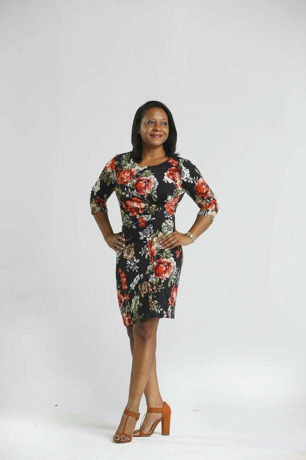 HAR chair Kenya Burrell-VanWormer in the Chronicle photo studio, Tuesday, July 24, 2018 in Houston. ( Mark Mulligan / Houston Chronicle ) Photo: Mark Mulligan, Staff / Houston Chronicle / © 2018 Mark Mulligan Houston Chronicle