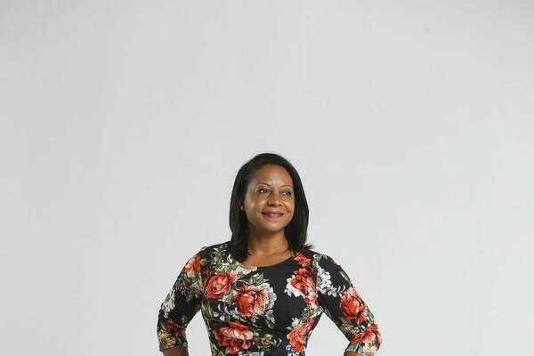 HAR chair Kenya Burrell-VanWormer in the Chronicle photo studio, Tuesday, July 24, 2018 in Houston. ( Mark Mulligan / Houston Chronicle )