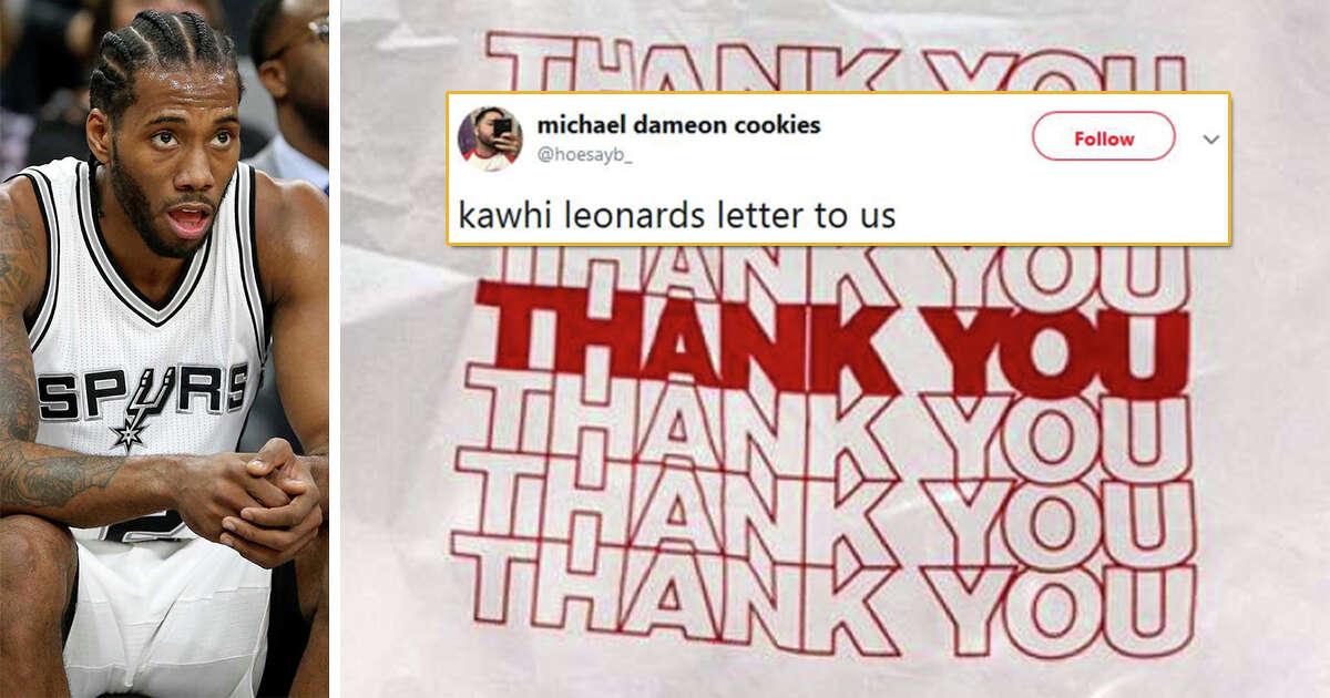 Social media reacts to Kawhi Leonard 'thank you' letter to Spurs, fans, San Antonio