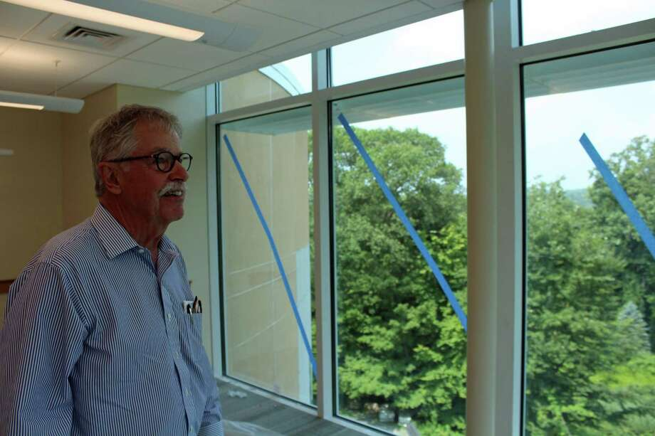 Architect Jim Rogers gives a tour of the new Arts and Humanities wing at St. Luke's. Photo: Humberto J. Rocha / Hearst Connecticut Media / New Canaan News