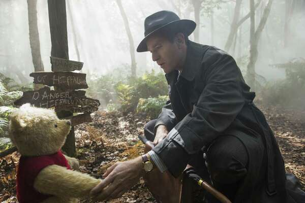 """This image released by Disney shows Ewan McGregor in a scene from """"Christopher Robin."""""""