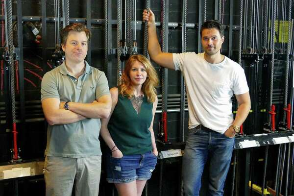 """UNDERSTUDY: From left, Eric Bryant, Andrea Syglowski and Brett Dalton star in the backstage comedy """"The Understudy"""" at Westport Country Playhouse, running Aug. 14 through Sept. 1. It's a backstage comedy about a Hollywood action star rehearsing for a role on Broadway amid tensions with his understudy. Tickets ($30) are available at westportplayhouse.org"""