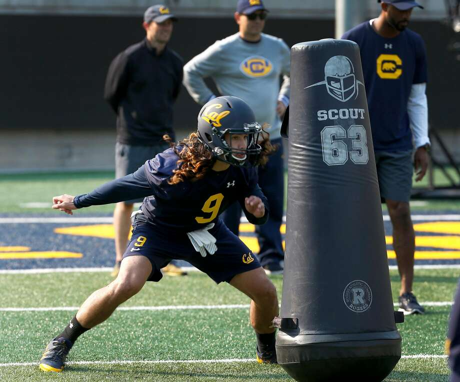 Wide receiver Kanawai Noa works in an offensive drill during the first day of Cal Bears football practice at Memorial Stadium in Berkeley, Calif. on Friday, Aug. 3, 2018. Photo: Paul Chinn / The Chronicle