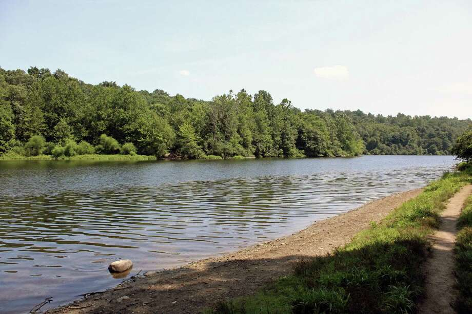 Lake Mohegan combines open space for hiking and fishing with a recreational beach for swimming. Photo: /