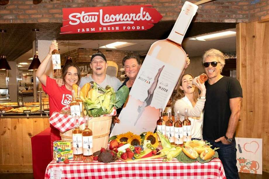 Jon Bon Jovi and son, Jesse Bongiovi, visit Stew Leonard's in Farmingdale, NY on August 4, 2018. Photo: Chase Leonard