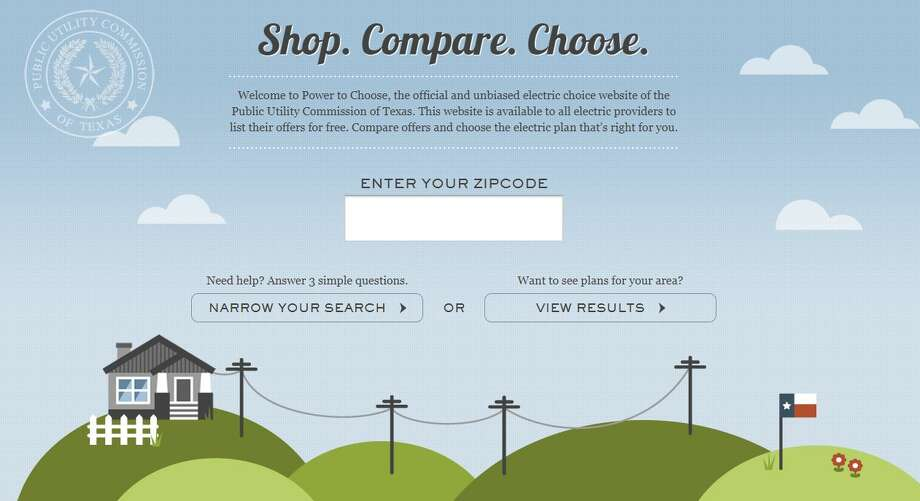 The PowerToChoose.org website. Regulators have adopted modest changes to the electricity shopping site. Photo: PowerToChoose.org