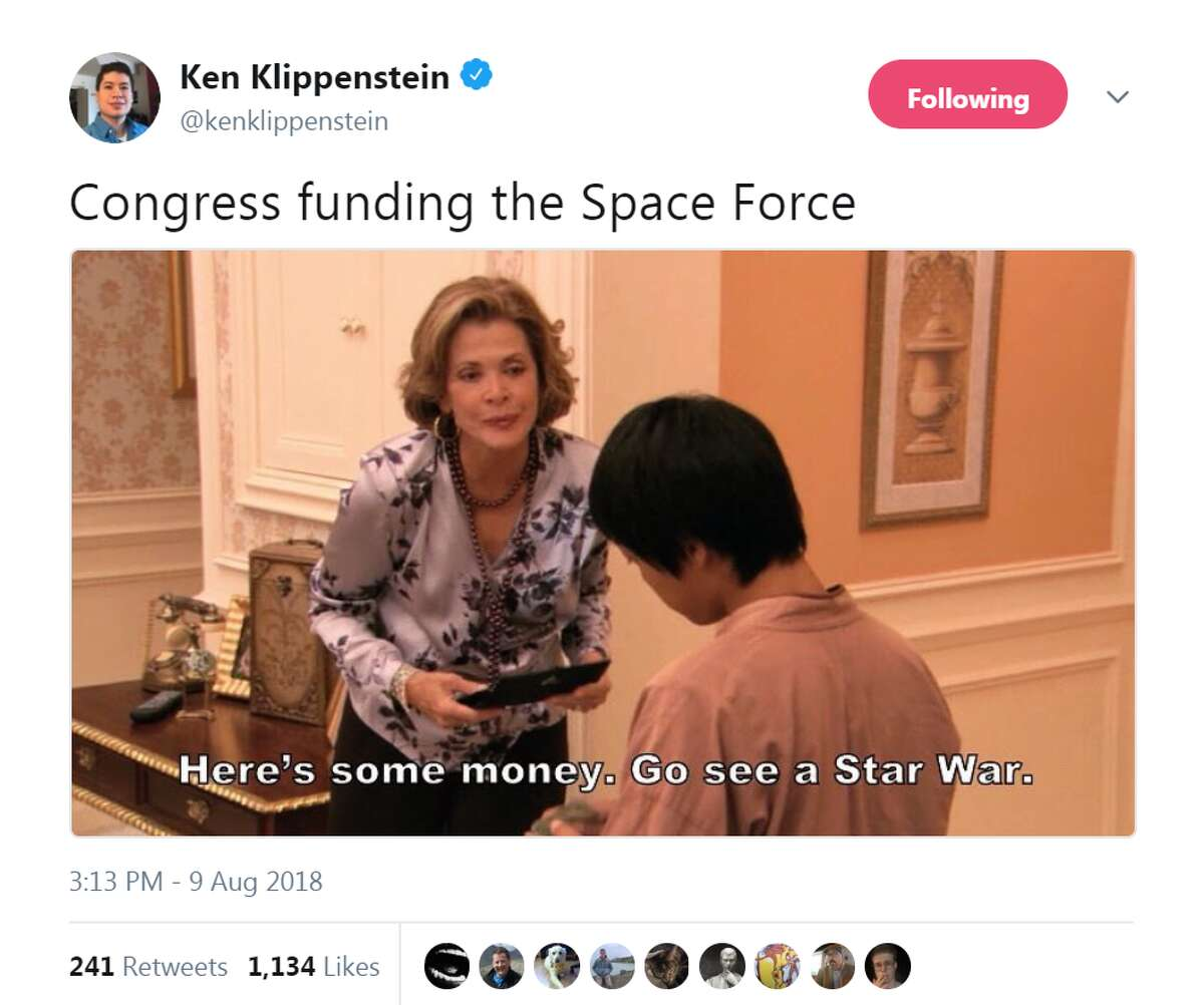See social media reactions to Trump's Space Force >>> @kenklippenstein