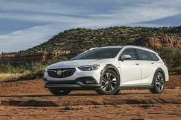 Buick's all-new Regal TourX broadens the brand's lineup. The TourX rides higher than its Regal Sportback counterpart, enabling greater capability. (Buick photo)