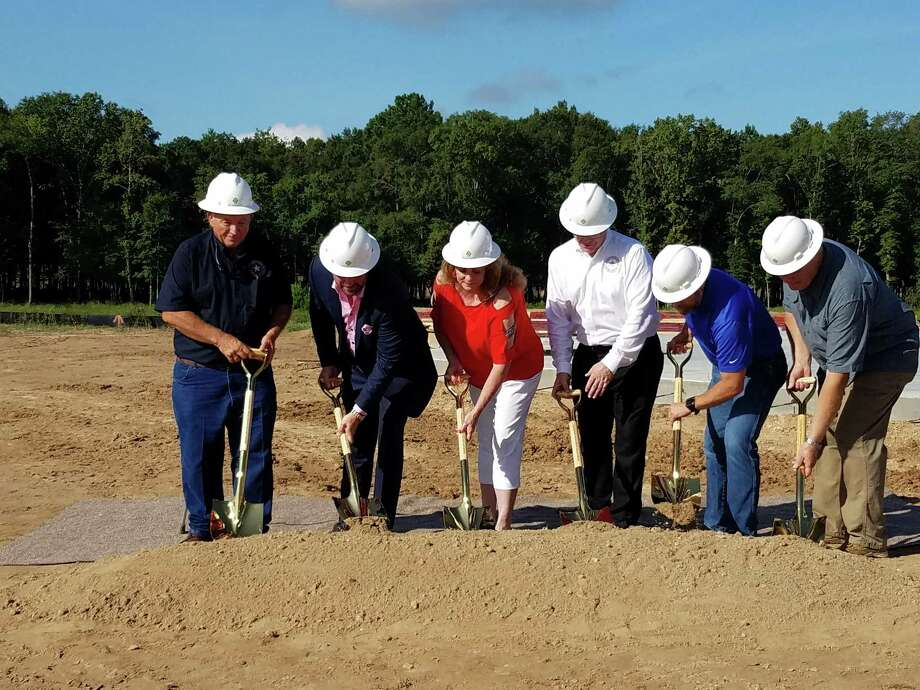 The Signorelli Company CEO/President Danny Signorelli along with the East Montgomery County Improvement District board members celebrated the start of construction on the first phase of the new complex with a ground breaking ceremony on Thursday, Aug. 9, 2018. Photo: Jennifer Summer