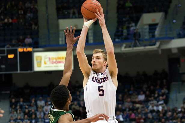 Niels Giffey, who won two national titles as a player at UConn, will make his Jim Calhoun Charity All-Star Game debut on Friday at Mohegan Sun Arena.