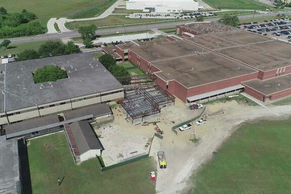 Connecting cooridor and new ROTC building at Pearland High School