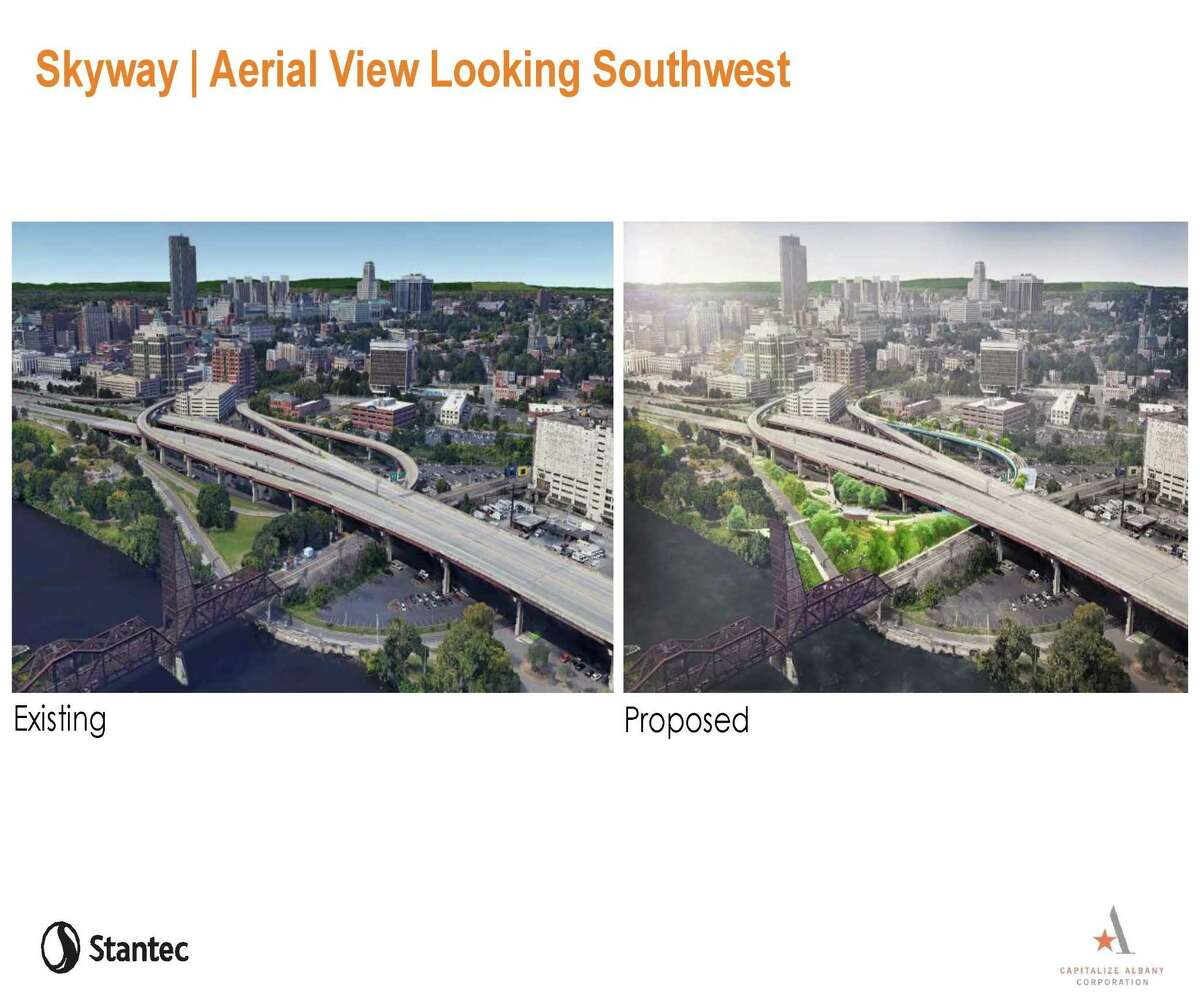 Final design of the Albany Skyway was presented to the publicThursday, Aug. 9, 2018 at the Palace Theatre in Albany.