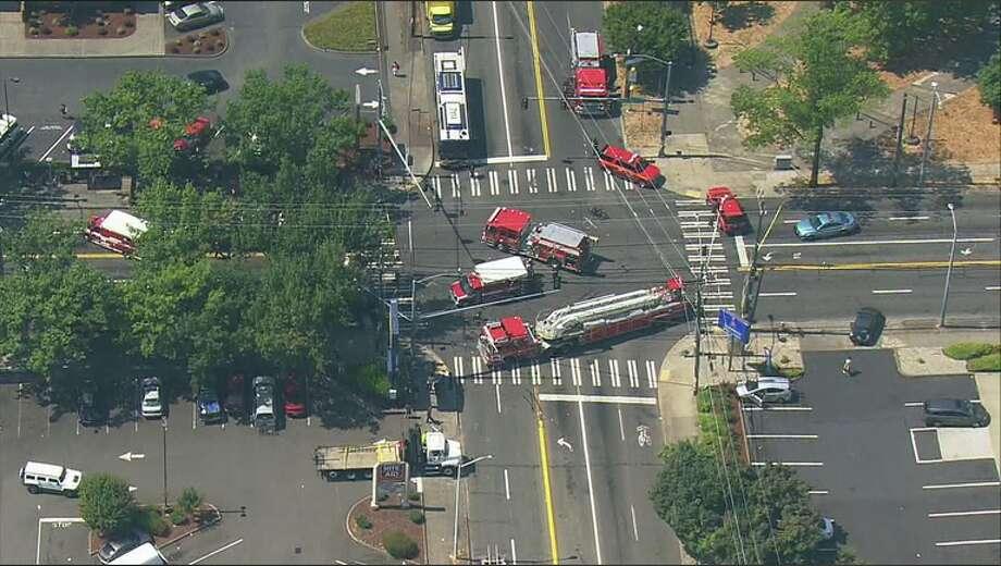 2 children were struck by a car in South Seattle. Photo: KOMO