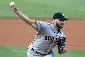 LOS ANGELES, CA - AUGUST 04:  Lance McCullers Jr. #43 of the Houston Astros pitches in the second inning of the game against the Los Angeles Dodgers at Dodger Stadium on August 4, 2018 in Los Angeles, California.  (Photo by Jayne Kamin-Oncea/Getty Images)