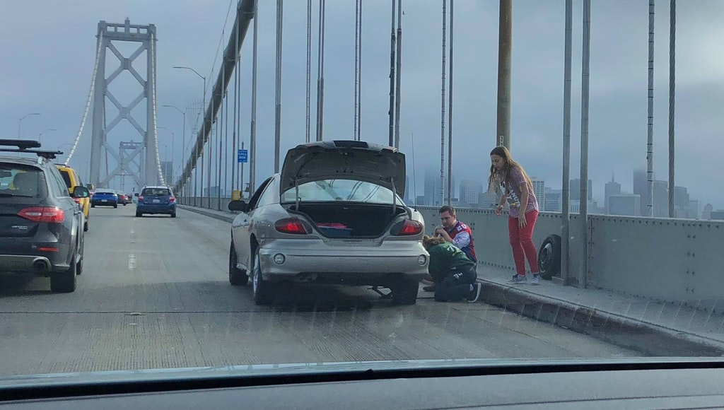 Car trouble on the Bay Bridge? Don't be this guy - Times Union