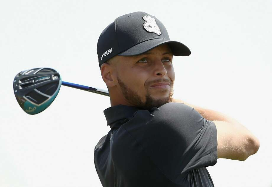 NBA player Stephen Curry of the Golden State Warriors tees off on the ninth hole during Round One of the Ellie Mae Classic at TBC Stonebrae on August 9, 2018 in Hayward, California.  (Photo by Ezra Shaw/Getty Images) Photo: Ezra Shaw, Getty Images