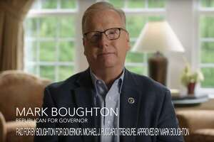In his first television commercial of the governor's race, Republican Mark Boughton focused on his recent health scare.