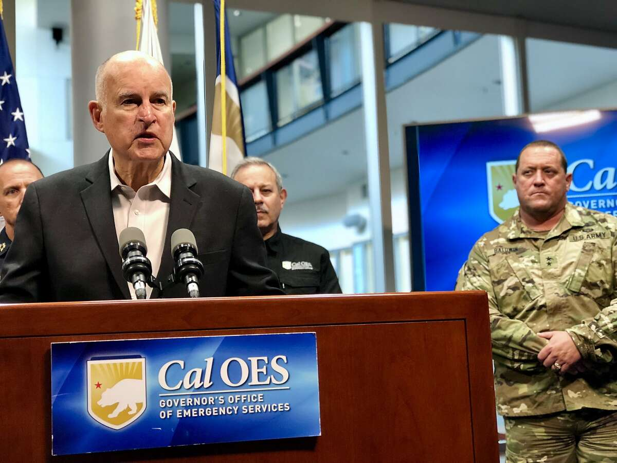 Gov. Jerry Brown provides updates on California wildfires in Sacramento.