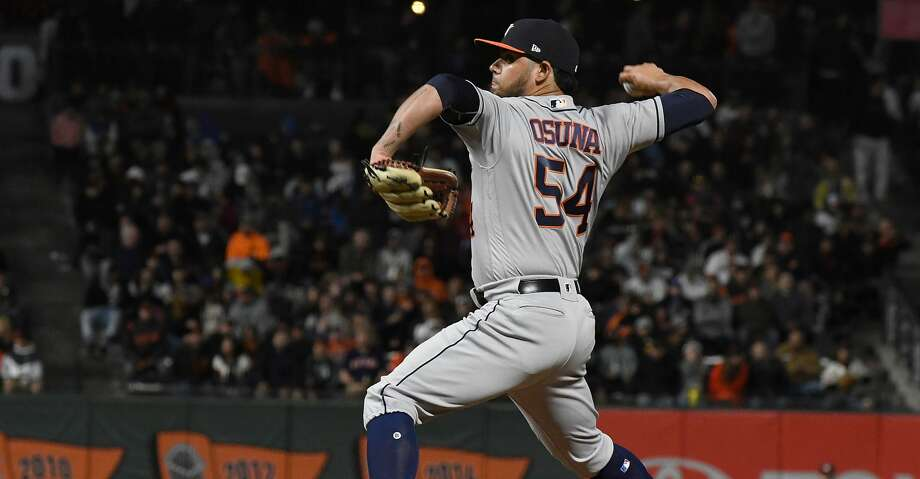 PHOTOS: Astros game-by-game SAN FRANCISCO, CA - AUGUST 06:  Roberto Osuna #54 of the Houston Astros pitches against the San Francisco Giants in the bottom of the eighth inning at AT&T Park on August 6, 2018 in San Francisco, California.  (Photo by Thearon W. Henderson/Getty Images) Browse through the photos to see how the Astros have fared through each game this season. Photo: Thearon W. Henderson/Getty Images