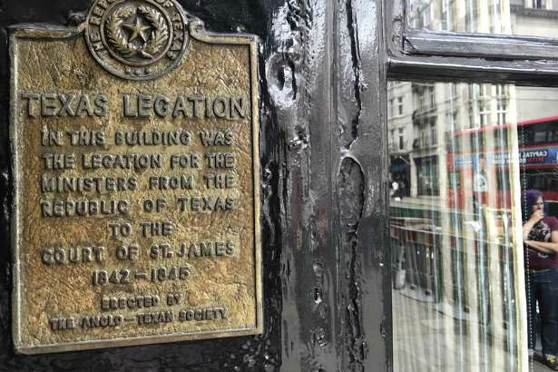 The embassy of the Republic of Texas rented space in the shop of a venerable London merchant from 1842 to 1845.