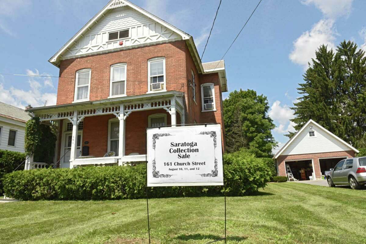 Exterior of 161 Church Street where the Saratoga collection of Minnie Clark Bolster estate sale will take place Aug. 9, 2018 in Saratoga Springs, N.Y. The sale will take place Friday through Sunday. (Lori Van Buren/Times Union)