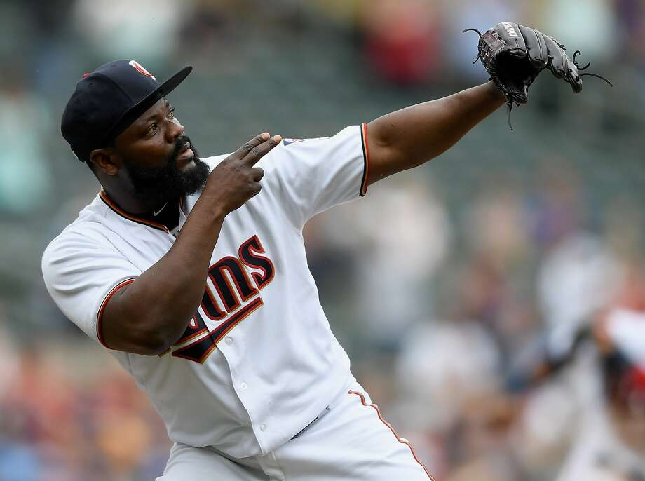 Fernando Rodney, 41, is known for mimicking shooting an arrow after saves. Photo: Hannah Foslien / Getty Images