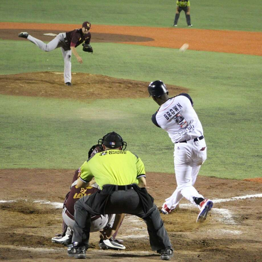 Domonic Brown had two of his team's five hits as the Tecolotes Dos Laredos lost 3-2 on Thursday night to Algodoneros Union Laguna Photo: Courtesy Of The Tecolotes Dos Laredos