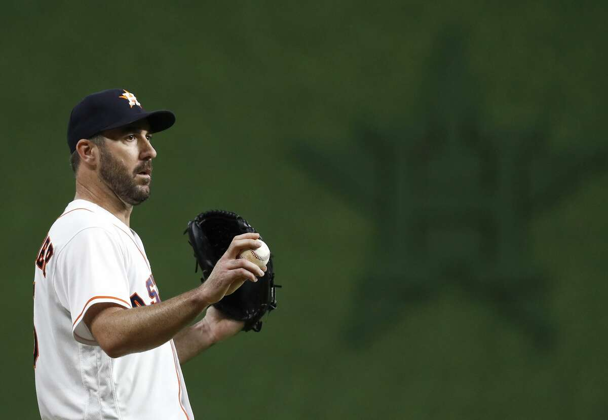 Justin Verlander's 290 strikeouts and 12.2 strikeouts per nine innings in 2018 were career highs.