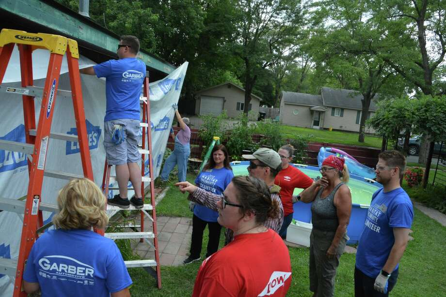 A scene from the Midland County Habitat for Humanity Neighborhood Revitalization Initiative on Tuesday, Aug. 7, 2018. Photo: Photo Provided/P3 Images