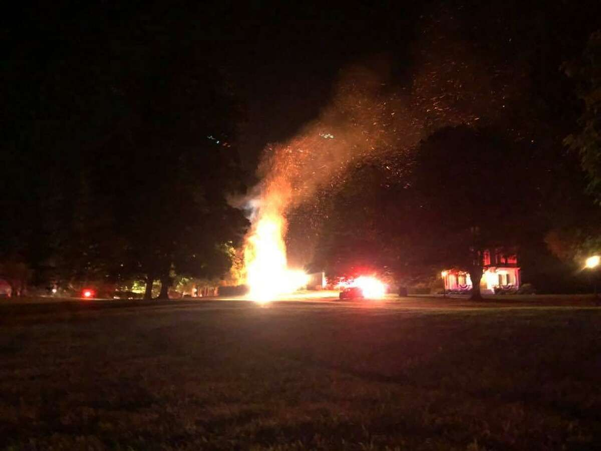 The Greenwich Fire Department responded to a fire at 15 Locust Road around midnight on Friday, Aug. 10, 2018.