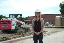 """Brookside Intermediate School principal Lauren Ambeau says the science magnet facility under construction at her school in Friendswood will enable participation by more students in Clear Creek ISD's program for study in the """"STEM"""" fields of science, technology, engineering and math."""