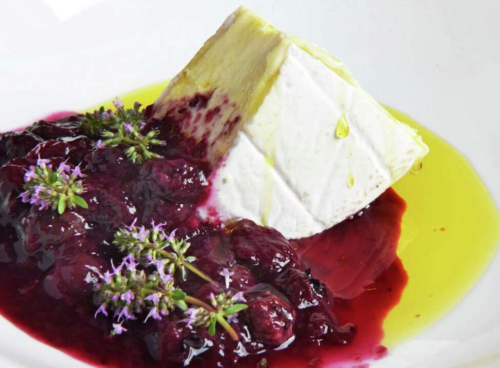 Four Fat Fowl St. Stephen cheese with blueberry Earl Grey jam at Nighthawks restaurant Thursday August 2, 2018 in Troy, NY. (John Carl D'Annibale/Times Union)