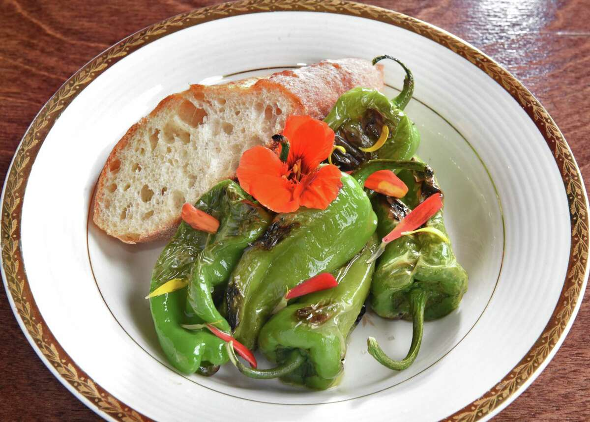 Blistered Padr?-n Peppers at Nighthawks restaurant Thursday August 2, 2018 in Troy, NY. (John Carl D'Annibale/Times Union)